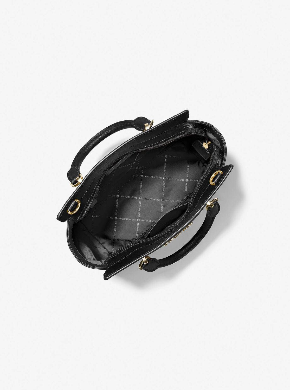 Túi xách Michael Kors cầm tay đeo chéo hàng hiệu Brandi Black Small Tz Messenger Leather Bag