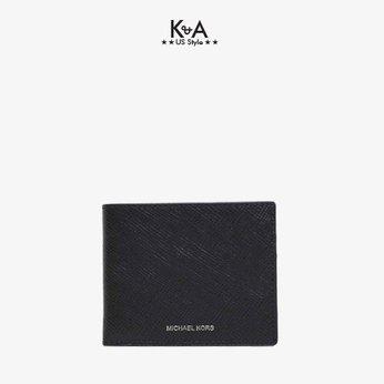Ví nam Michael Kors gấp 36U9LHRF5L -Harrison Leather Billfold Wallet - Black