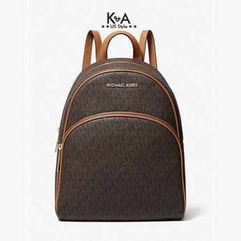 Ba lô Michael Kors nữ size trung màu nâu 30H0GAYB6B Abbey Medium Backpack Brown Logo