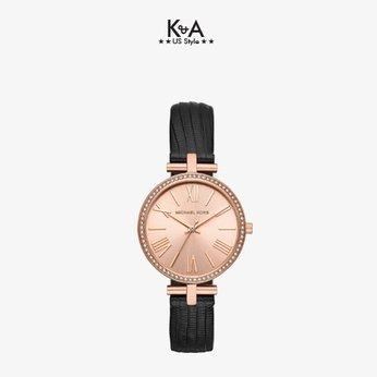 Đồng hồ Michael Kors nữ dây da đen MK 2766
