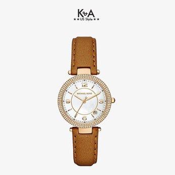 Đồng hồ Michael Kors nữ dây da nâu MK 2464