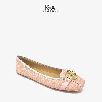 Giày búp bê Michael Kors nữ Fulton Moc flat logo soft pink