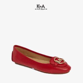 Giày búp bê Michael Kors nữ  Lillie Moccassin Flats - bright red