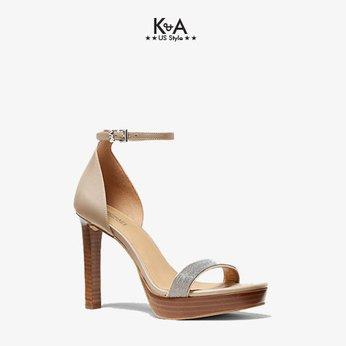 Giày sandal Michael Kors nữ cao gót 40S0MRHS1D-Margot Embellished Leather Platform Sandal  - light sand.