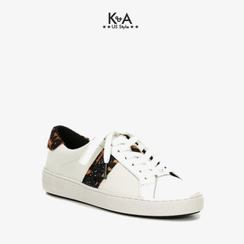 Giày sneaker Michael Kors Authentic USA cho nữ 43F0IRFP7L IRVING STRIPE LACE UP LEATHER, giay the thao Michael Kors hang hieu cap cap mau trang ,giay the thao MK chinh hang, , giay  MK chinh hang dao pho, giay MK hang hieu authentic.