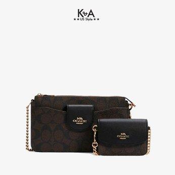 Túi xách Coach nữ đeo chéo hàng hiệu 11003466JAX C3328 SIG POPPY XBDY