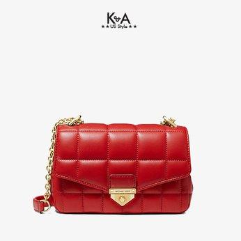 Túi xách Michael Kors đeo chéo 30H0G1SL1T - SoHo Small Quilted Leather Shoulder Bag- bright red