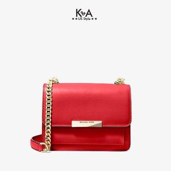 Túi xách Michael Kors hàng hiệu authentic 32S9GJ4C0L Jade Extra-Small Leather Crossbody Bag Red