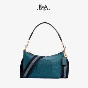 Túi xách Coach nữ đeo chéo hàng hiệu 100111296JAX-LTH DMPSY SHB-IMSE1 - Teal ink