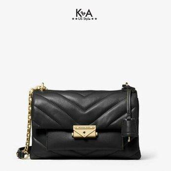 Túi xách Michael Kors hàng hiệu authentic Cece Medium Black Shoulder Bag, túi xách michael kors hàng hiệu đeo chéo giành cho nữ, túi xách MK chính hãng authentic size lớn, giỏ xách MK màu đen giành cho nữ, giỏ xách michael kors hàng hiệu dự tiệc