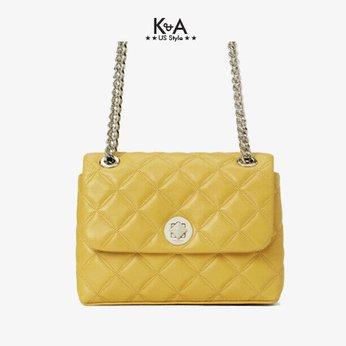 Túi xách Kate Spade nữ đeo chéo hàng hiệu WKRU7074- NATALIA SMALL FLAP CROSSBOBY - golden yellow
