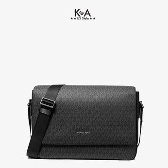 Túi xách Michael Kors nam đeo chéo hàng hiệu Harrison Messenger Leather Black Bag, túi xách MK nam công sở đeo chéo màu đen, túi xách Michael Kors đeo chéo màu đen giành cho nam, cặp xách MK nam chính hãng công sở , cặp xách MK nam đeo chéo hằng ngày