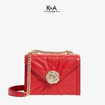 Túi xách Michael Kors  hàng hiệu cao cấp  Whitney Small Bright Red Shoulder Leather Bag, túi xách MK hàng hiệu đeo chéo màu đỏ, túi xách michael kors dự tiệc màu đỏ, giỏ xách MK đeo vai hàng hiệu chính hãng dạo phố