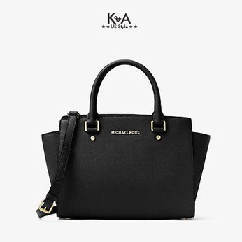 Túi xách Micheal Kors hàng hiệu Selma Medium Tz Satchel Leather Black