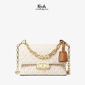 Túi xách Michael Kors hàng hiệu nữ Cece Mini Vanilla Xs Chain Xbody Bag, túi xách Michael Kors hàng hiệu nữ, túi xách Mk mini màu trắng, túi xách MK đeo chéo màu trắng, giỏ xách Michael Kors mini đeo chéo, giỏ xách Michael Kors hàng hiệu authentic 100%