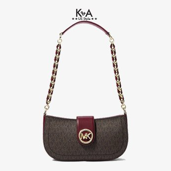 Túi xách Michael Kors kẹp nách mã 32S0GNMU0B CARMEN DK BERRY, tui xach MK chinh hang kep nach mau do du tiec, tui xach MK hang hieu cao cap kep nach, gio xach Michael Kors kep nach mau do dao pho, gio xach MK authentic mau do