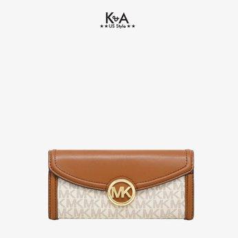 Ví Michael Kors size lớn của nữ Fulton Flap Vanilla Large Wallet