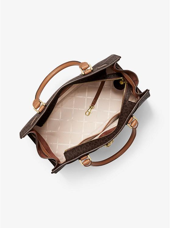 Túi xách Michael Kors hàng hiệu đeo vai 30S1G0HS7V-NOUVEAU HAMILTON LG SATCHEL - BROWN ACCORN