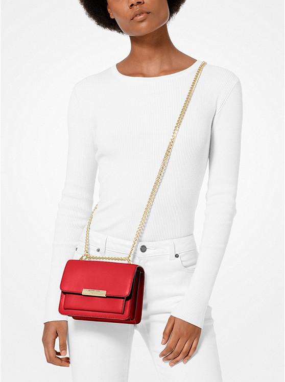 Túi xách Michael Kors hàng hiệu authentic 32S9GJ4C0L - Jade Extra-Small Leather Crossbody Bag - Red