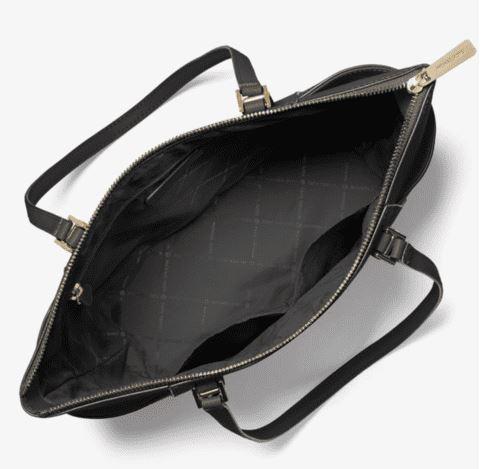 Túi xách Michael Kors hàng hiệu đeo vai  35T0GCFT7L - Charlotte Large Saffiano Leather Top-Zip Tote Bag - BlackTúi xách Michael Kors hàng hiệu đeo vai 35T0GCFT7L Charlotte Large Saffiano Leather Top-Zip Tote Bag Black