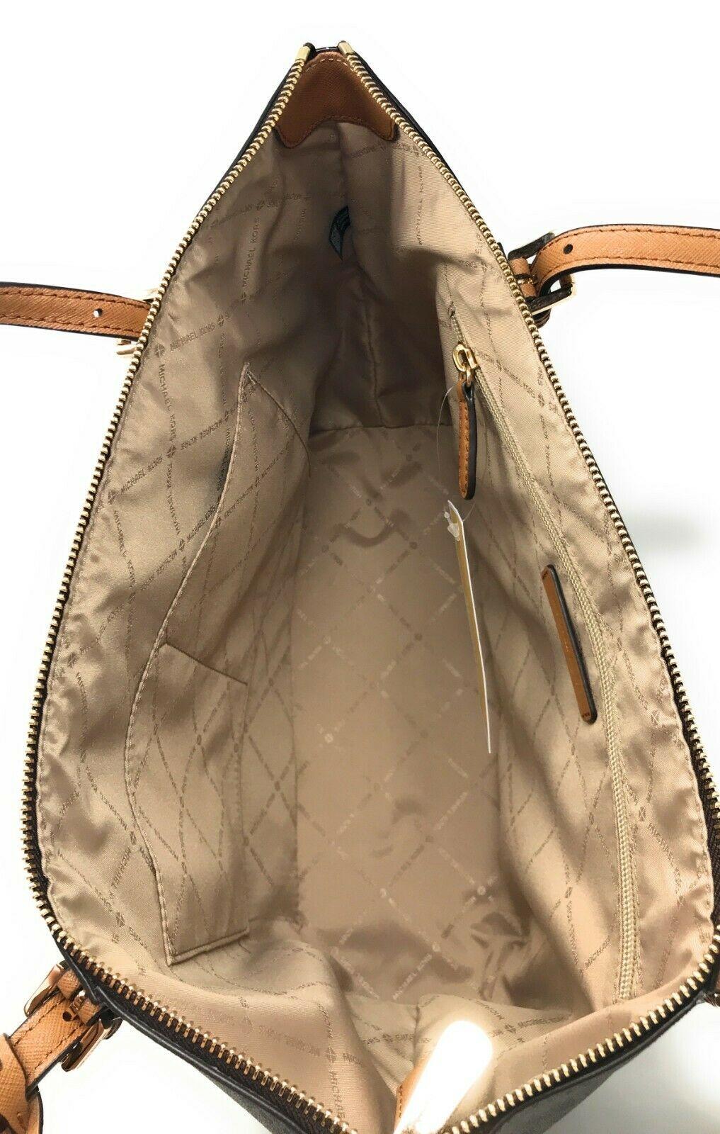 Túi xách Michael Kors đeo vai size lớn Ciara Large Brown Signature Tote, giỏ xách MK chính hãng giành cho nữ, túi xách michael kors hàng hiệu màu nâu size lớn, túi xách MK hàng hiệu dạo phố, túi xách MK văn phòng
