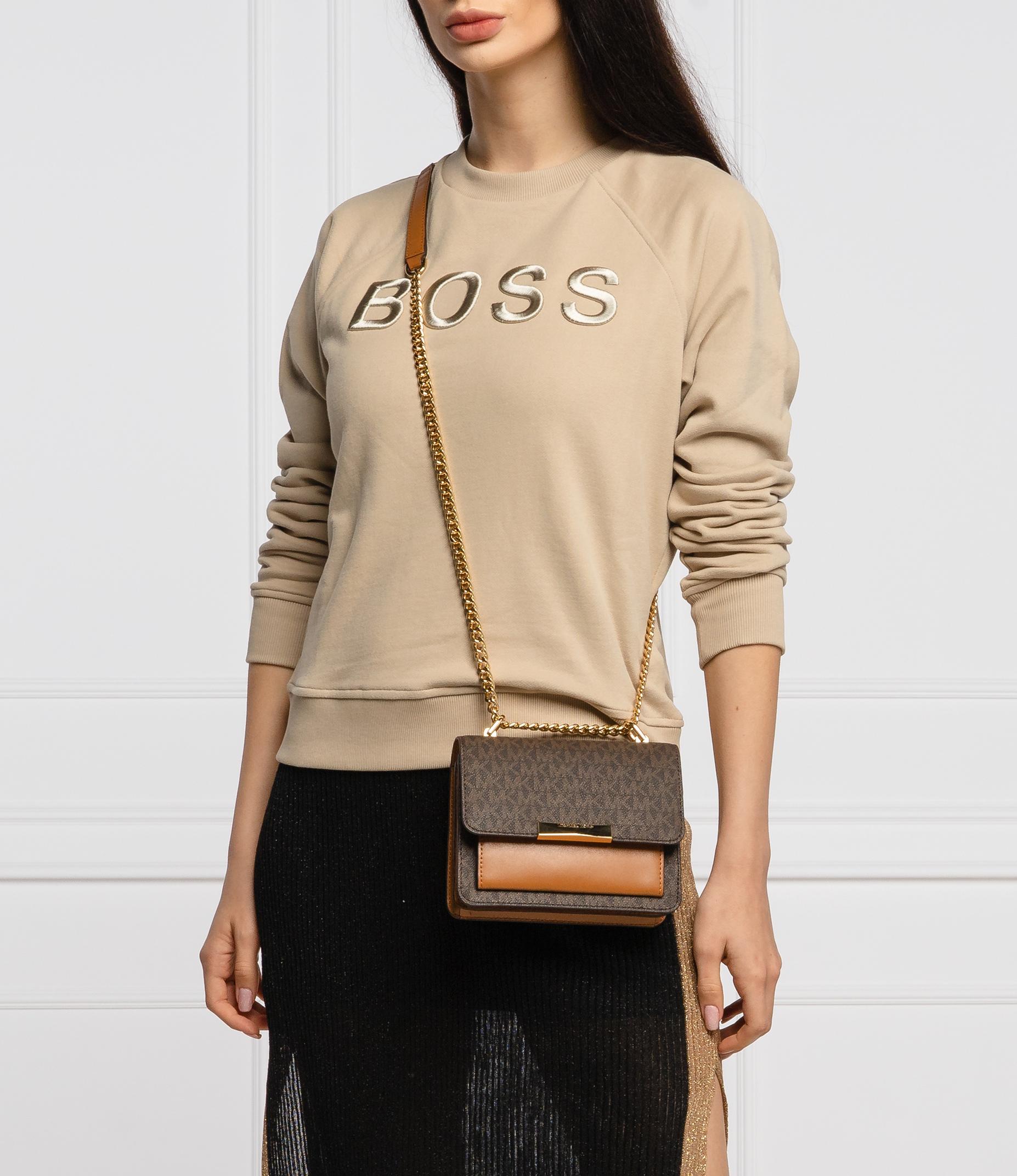 Túi xách Michael Kors hàng hiệu authentic Jade XS Suggest Crossbody Bag, túi xách MK nữ đeo chéo màu nâu, túi xách MK chính hãng dự tiệc giành cho nữ, túi xách michael kors nữ đeo chéo sành điệu, túi xách MK đeo vai màu nâu