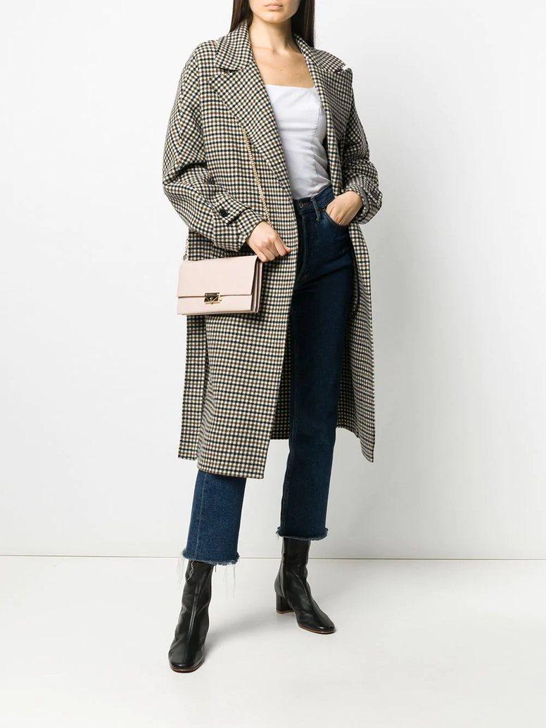 Túi xách Michael Kors đeo chéo cầm tay Cece Soft Pink Large Clutch Xbody