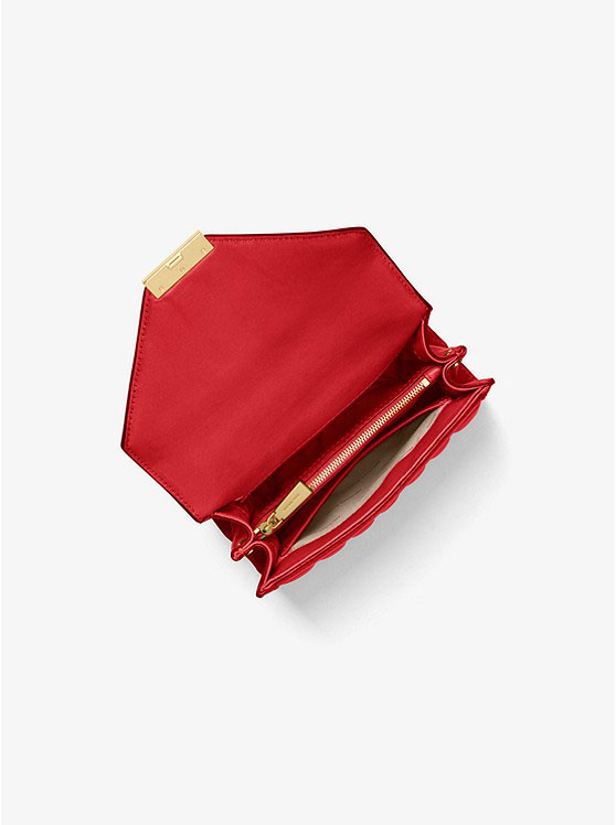Túi xách Michael Kors mini màu đỏ Whitney Mini Quilted Shoulder Bag
