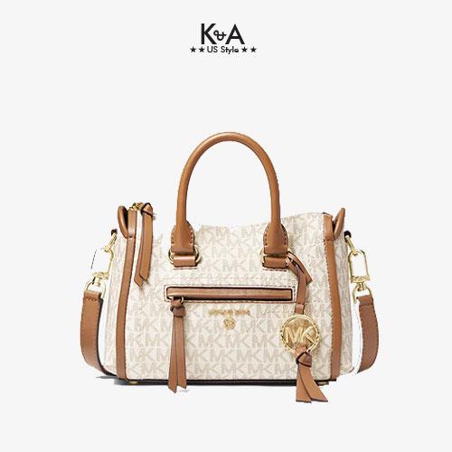 Túi xách Michael Korsmini đeo chéo 32T0GCCC1B-Carine Extra-Small Logo Crossbody Bag-vanilla