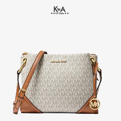 Túi xách Michael Kors đeo chéo màu vanilla35H9GNIC9B-NICOLE LARGE CROSSBODY BAG - Large - VANILLA