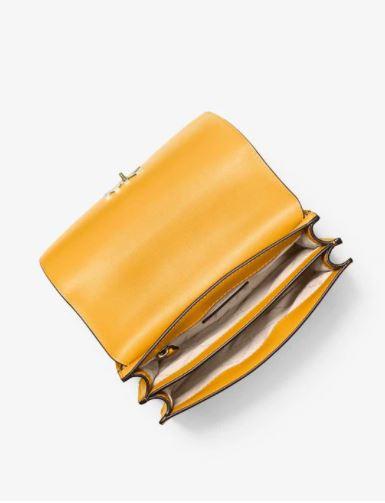 Túi xách Michael Kors dự tiệc dây xích mã 35S0GOXL3T-MOTT-LG CHAIN SHLDR LEATHER-SUNSHN MULTI