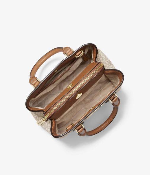 Túi xách Michael Kors Camille Small Vanilla Logo and Leather Satchel