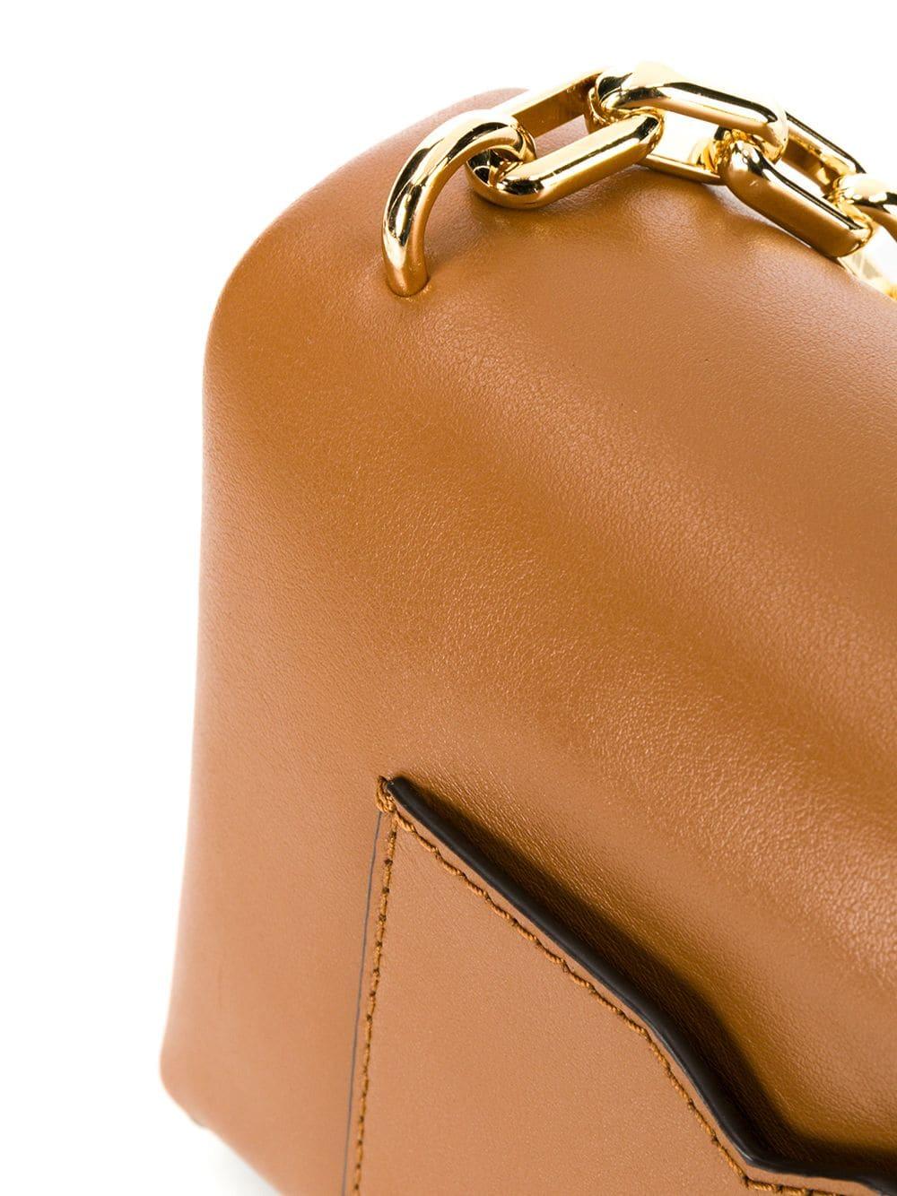 Túi xách Michael Kors hàng hiệu nữ Cece Mini Acorn Xs Chain Xbody Bag, túi xách Michael Kors hàng hiệu nữ, túi xách Mk mini màu nâu, túi xách MK đeo chéo màu nâu, giỏ xách Michael Kors mini đeo chéo
