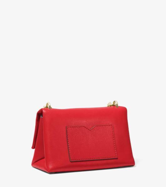 Túi xách Michael Kors hàng hiệu nữ Cece Mini Bright Red Xs Chain Xbody Bag, túi xách Michael Kors hàng hiệu nữ, túi xách Mk mini màu đỏ, túi xách MK đeo chéo màu đỏ, giỏ xách Michael Kors mini đeo chéo