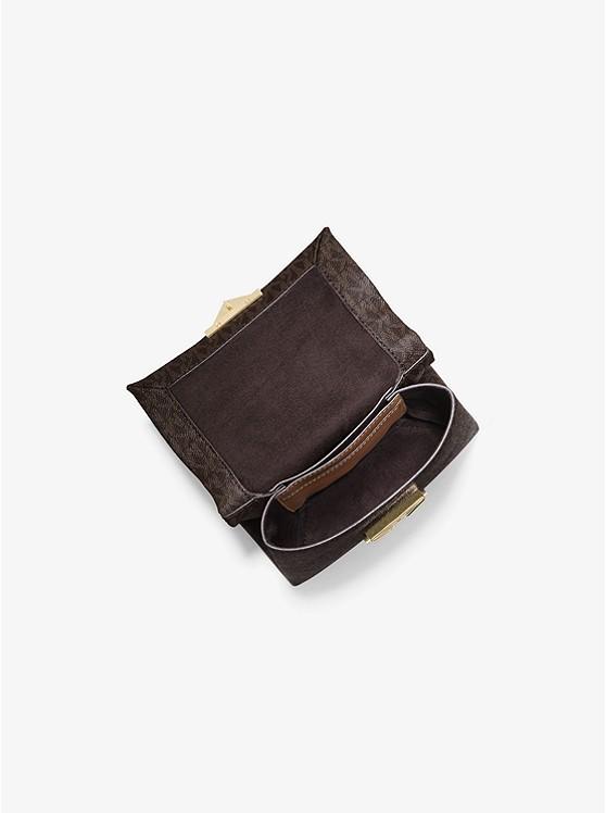 Túi xách Michael Kors hàng hiệu nữ Cece Mini Brown Xs Chain Xbody Bag, túi xách Michael Kors hàng hiệu nữ, túi xách Mk mini màu nâu, túi xách MK đeo chéo màu nâu, giỏ xách Michael Kors mini đeo chéo, giỏ xách Michael Kors hàng hiệu authentic 100%