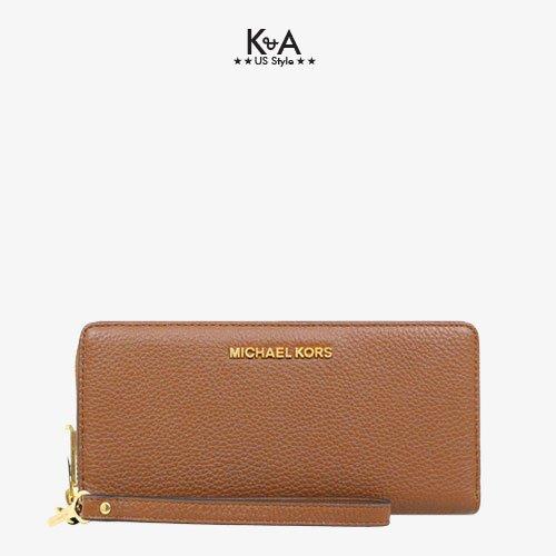 Ví cầm tay hàng hiệu Michael Kors Jet Set Travel Continental Leather Wallet, ví MK cầm tay hàng hiệu giành cho nữ, ví MK chính hãng màu nâu, Ví MK hàng hiệu size lớn, bóp Michael Kors giành cho nữ màu nâu, bóp MK hàng hiệu authentic giành cho nữ