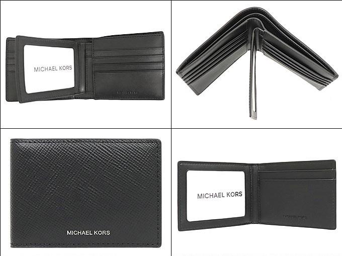 Ví nam Michael Kors gấp mini Harrision Black Logo Black with Passcase, ví michael kors nam gập mini giành cho nam, ví MK nam gập màu đen, ví Michael kors hàng hiệu authentic đựng card, bóp michael kors nam màu đen, bóp MK gập chính hãng giành cho nam (1)