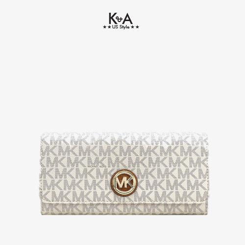 Ví cầm tay Michael Kors hàng hiệu 35F8GFTE1B-FLAP CONTINENTAL - logo vanilla