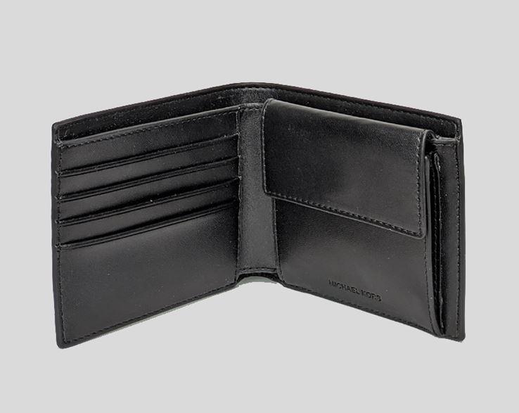 Ví nam Michael Kors gập Billfold W Coin Pocket Black Wallet, ví nam michael kors gập giành cho nam, ví Michael kors size nhỏ, Ví MK hàng hiệu chính hãng authentic màu nâu, ví MK gập mini chính hãng, bóp Michael Kors giành cho nam
