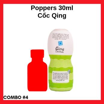 Combo #4 Popper 30ml cao cấp siêu mạnh mẽ và Cốc thủ dâm Qing siêu đỉnh