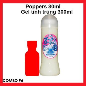 Combo #6 Popper 30ml cao cấp mạnh mẽ và Gel bôi trơn tinh trùng Nhật Bản 300ml