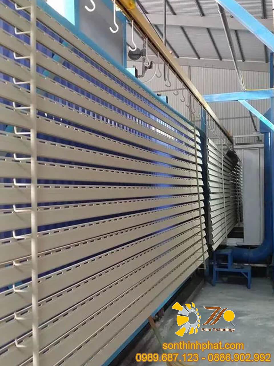 Hệ thống chuyền sơn tĩnh điện ngành nhôm