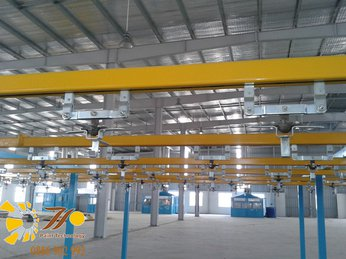 Hệ thống dây chuyền sơn tĩnh điện và chi phí đầu tư
