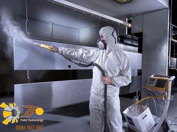 Bật mí quy trình sơn tĩnh điện thủ công an toàn