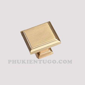 Tay nắm đồng vuông mạ vàng gold