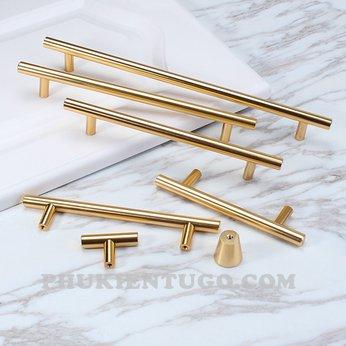 Tay nắm tủ đồng đũa gold 96mm