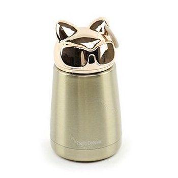 Bình thủy tinh giữ nhiệt mini mèo vàng | Nhận in logo công ty