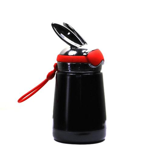 Bình thủy tinh giữ nhiệt mini thỏ đen | Nhận in logo công ty
