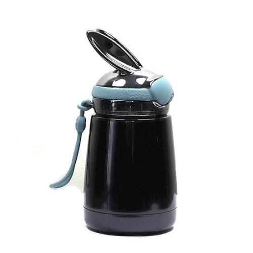 Bình thủy tinh giữ nhiệt mini thỏ xanh đen | Nhận in logo công ty