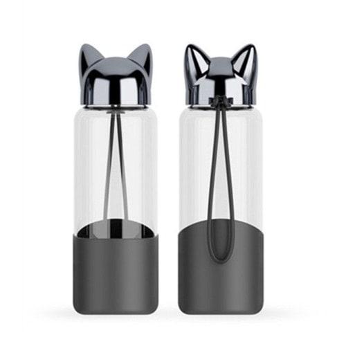 Bình thủy tinh cao cấp nắp mèo | Nhận in logo công ty